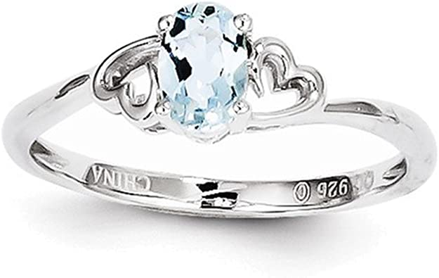Jewelry Adviser Sterling Silver Small Polished Number 18