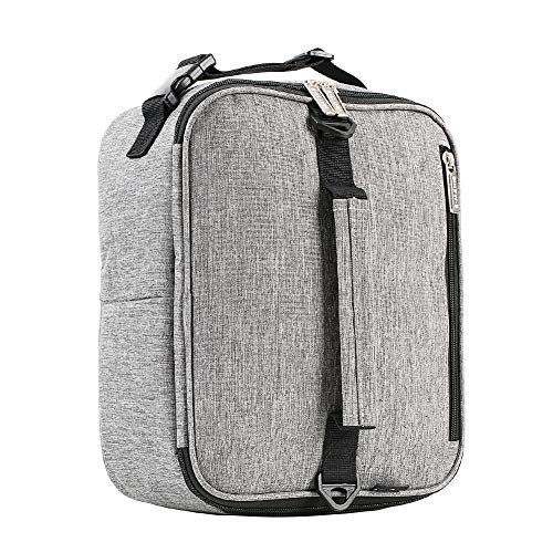 E-manis Insulated Lunch Bag Lunch Box Cooler Bag with Shoulder Strap for Men Women(Gray)