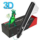 Tecboss 3D Drawing Pen, M1 Adults Kids, 3D Printer Printing Pen - USB Power, 2PCS Filament Refills, PLA and PCL Compatible (Black)