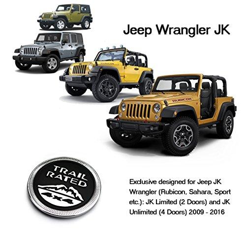 [해외]Vulcan-X Jeep Trail 정격 4 × 4 트렁크 뒷문 펜더 엠블럼 배지 LOGO for Jeep Wrangler 2009-2016/Vulcan-X Jeep Trail Rated 4×4 Trunk Tailga