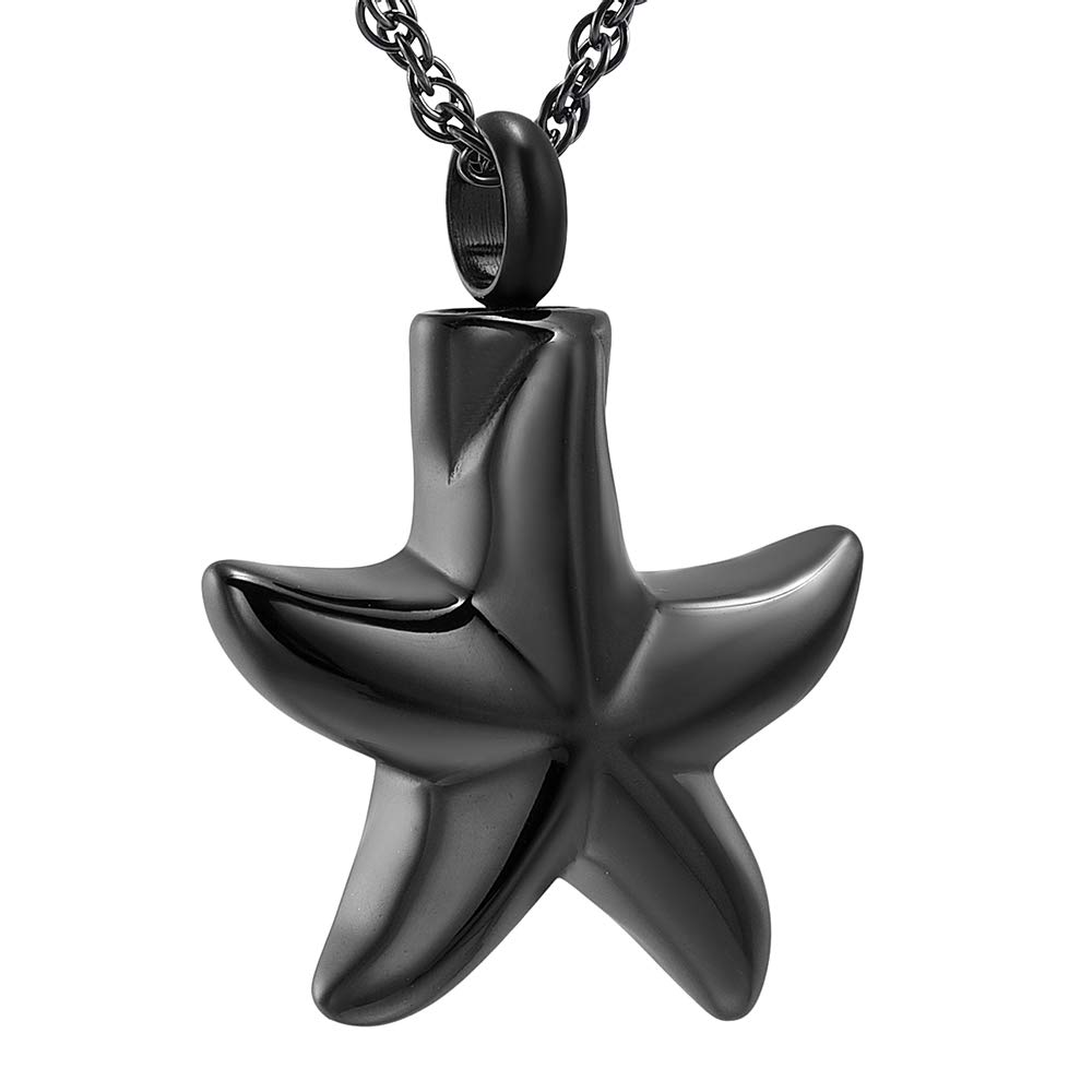 Star Cremation Jewelry for Ashes Pendant Holder Keepsake Memorial Necklace for Men Women free Chain