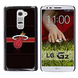 Miami Baloncesto - Metal de aluminio y de plástico duro Caja del teléfono - Negro - LG G2