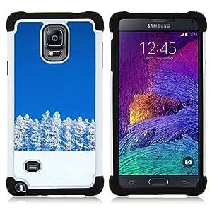 - Nature Snowy Trees/ H??brido 3in1 Deluxe Impreso duro Soft Alto Impacto caja de la armadura Defender - SHIMIN CAO - For Samsung Galaxy Note 4 SM-N910 N910