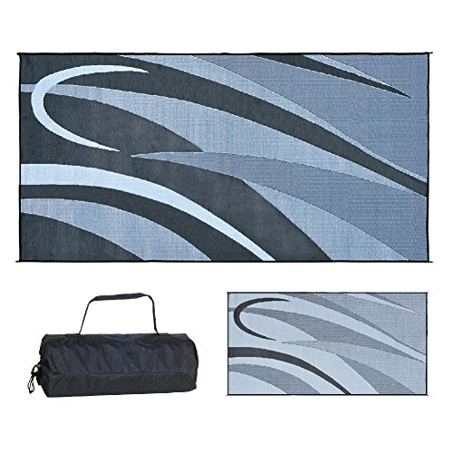 Stylish Camping GB1 Black/Silver 8-Feet x 16-Feet Graphic Mat