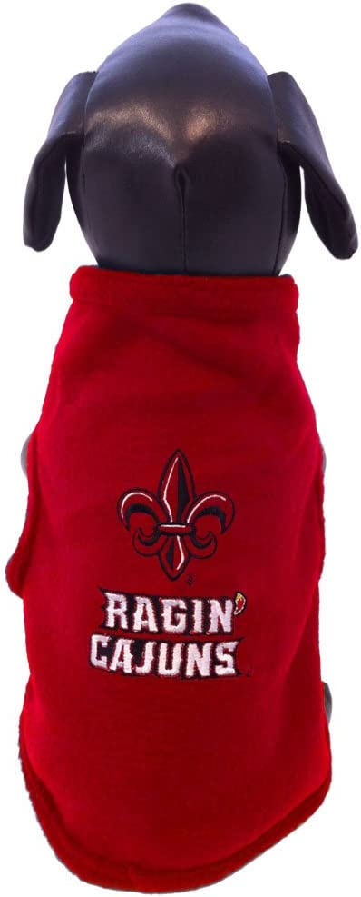 NCAA Louisiana Lafayette Ragin Cajuns Sleeveless Polar Fleece Dog Sweatshirt XX-Large