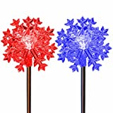 Christmas Decoration Snowflakes Color Changing Solar Powered Holiday Garden Stake Lights Outdoor Decoration Lawn Patio Deck Yard Decor