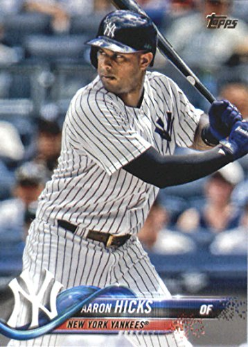 2018 Topps Series 2#480 Aaron Hicks New York Yankees Baseball Card - GOTBASEBALLCARDS