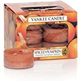Yankee Candle Spiced Pumpkin Tea Light Candles, Food & Spice Scent