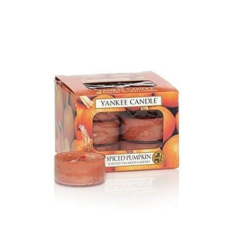 Pumpkin Pie Yankee Candle Tea Lights Set of 12