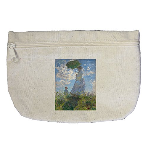 Madame And Her Son (Monet) Canvas Makeup Bag Zippered Pouch