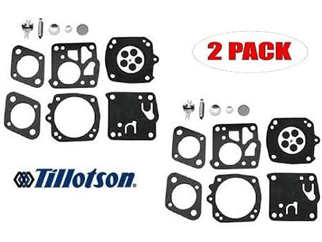 Genuine Tillotson RK-23HS Carburetor Repair Kit for Homelite XL98 Husky  61/162 Husky 185K (2 Pack)