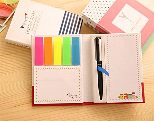- Hosaire Sticky Notes and set of 5 colors Page Markers Hard Shell Packaging Personalized Notepads for Office School Supplies