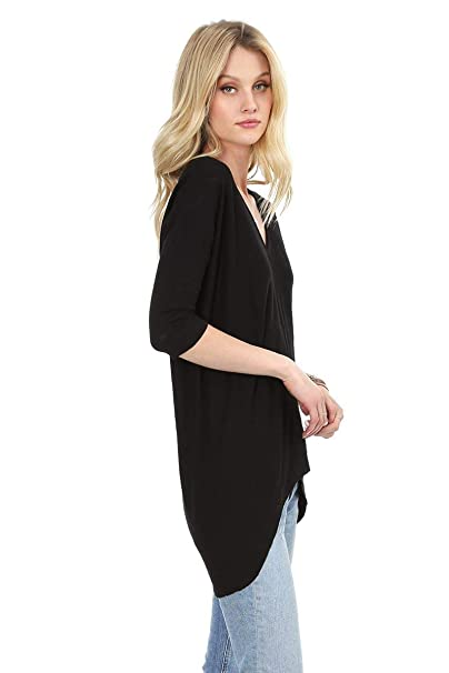 99131accbe bobi High Low V-Neck at Amazon Women s Clothing store