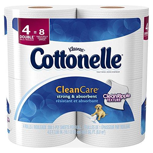 4 Double Rolls (Cottonelle Clean Care Toilet Paper Double Roll, 4 ct)