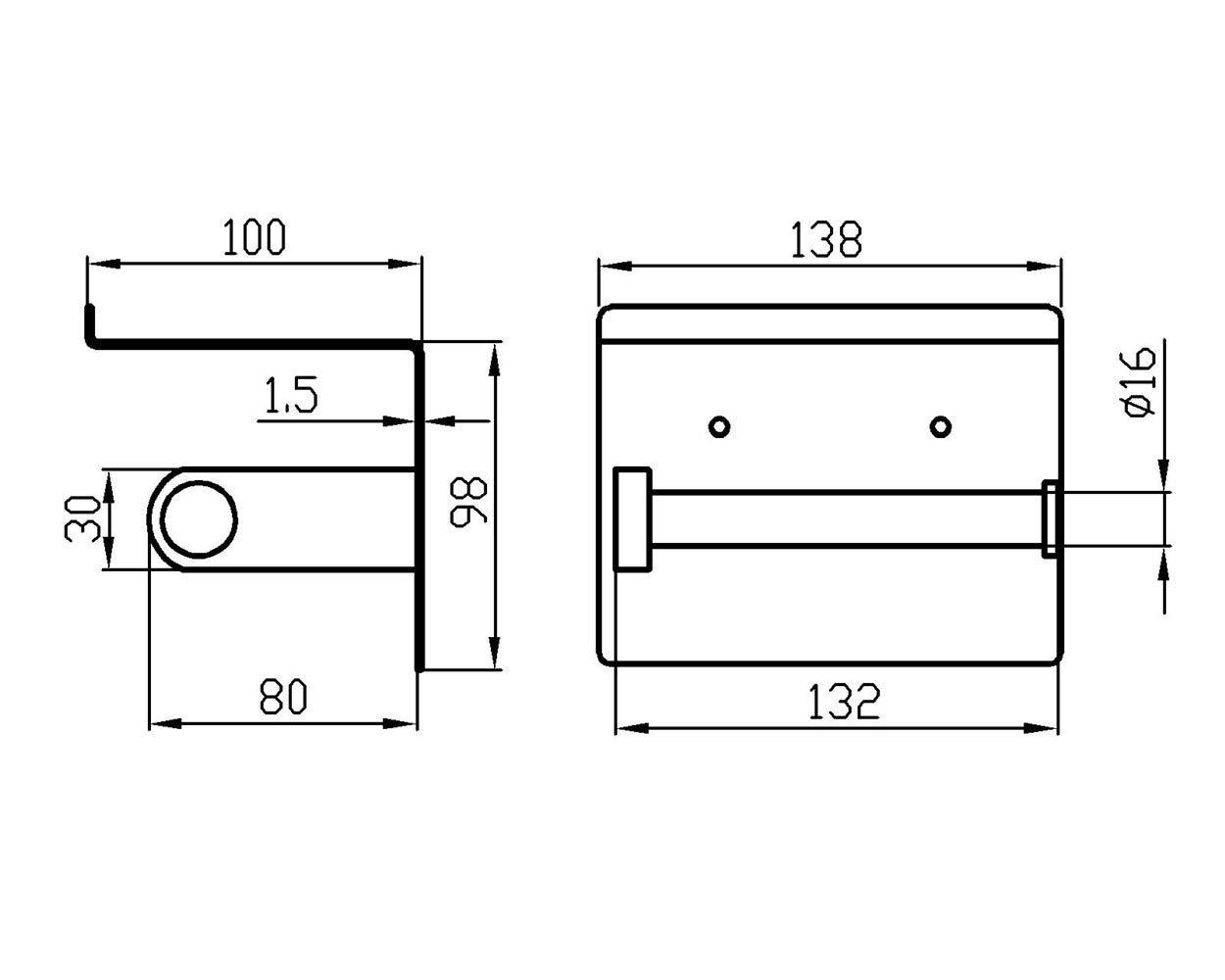 Chrom Poliert Papierrollenhalter mit Telefonablage f/ür K/üche und Badzimmer F928-03B SUS304 Edelstahl Klopapierhalter Selbstklebend oder Schrauben Installation Fomost Toilettenpapierhalter