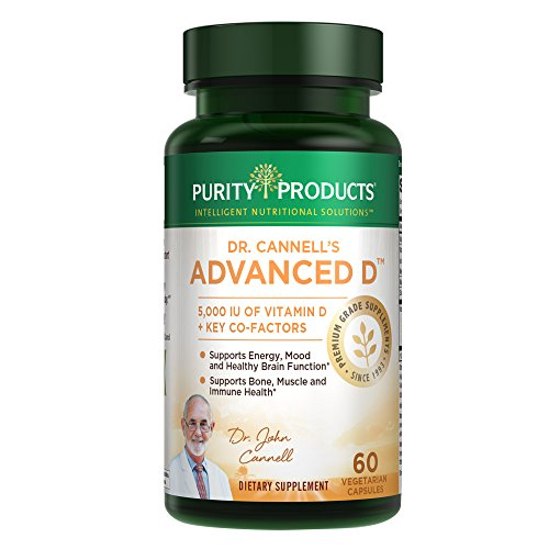 Dr. Cannell's Advanced D - Vitamin D Super Formula | Packed with Vitamin D, Vitamin K2, Zinc, Magnesium Citrate, Boron & Taurine | Purity Products | 60 Vegetarian Capsules