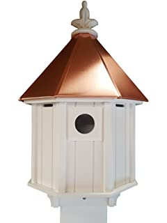 Superb Octagon Bird House Song Bird Cellular PVC Copper Roof Made In The USA