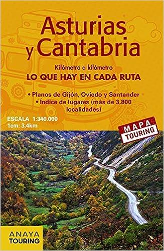 Mapa De Carreteras Asturias Y Cantabria E 1 340000 Anaya Touring