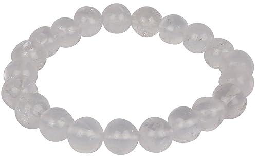 8a4e18e1d76fc Nytra Clear Quartz Crystal Bracelets for Women Men and Girls