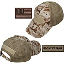 xhorizon TM FL1 Men Mesh Tactical Cap Sport Baseball Military Camouflage Sun Hat Cap with USA Flag Patch/Words Patch