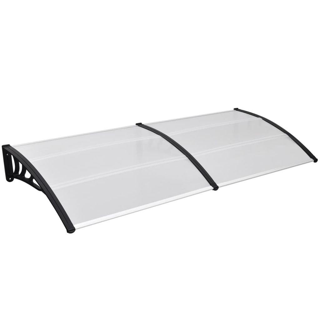 vidaXL 94'' x 39'' Outdoor Polycarbonate Front Door Window Awning Patio Cover Canopy