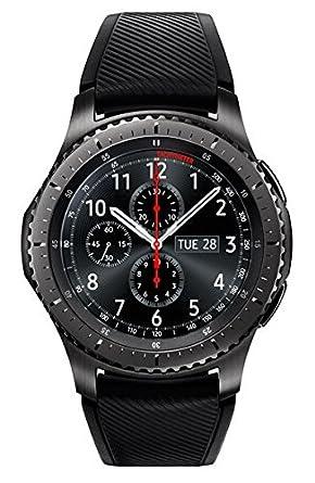 Samsung - Gear S3 Frontier Smartwatch 46mm - AT&T 4G LTE Dark Grey SM-R765A  (Large) (Renewed)