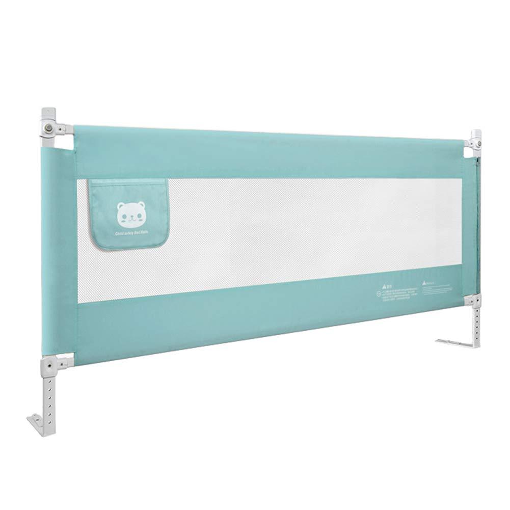 ベッドフェンス, 幼児用ベッドレール、余分な高さの幼児用ベッド子供のためのレールガード、キング/クイーンサイズベッド用、子供用ベビーベッドレール (色 : Green, サイズ さいず : 150cm) 150cm Green B07K33ZMFM