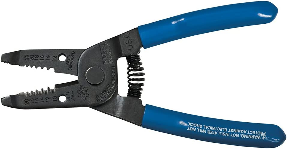 Dynamic Tools D095001 8-inch Wire Stripper Comfortable Handles, Lightweight 10-22 AWG