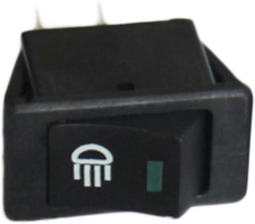 Niome 12V 35A Car Auto Fog Light Rocker Toggle Switch LED Dashboard Boat Shape Design Green