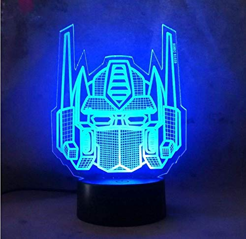 Transformers Gifts For Boys - Amroe 3D Night Light Character Boy