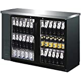 UBB-2G 27 Depth 58 Two Glass Door Back Bar Cooler