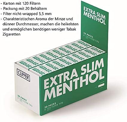 CORTADORA EXTRA FINOS MENTOL EXTREMIDADES DE FILTRO 20 PACKS: Amazon.es: Salud y cuidado personal