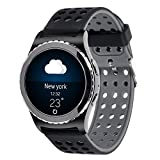 Lwsengme 20mm Silicone Watch Band for Samsung Galaxy Gear S2 Classic (Only for Classic Version)/Galaxy Watch(42mm)/Verizon GizmoWatch/Garmin vívoactive 3(Silicone band-07)