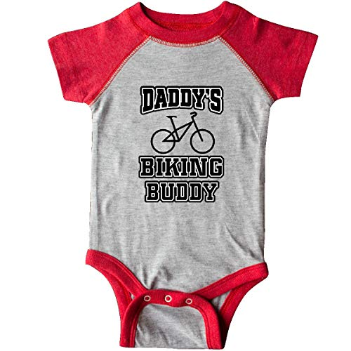 inktastic Daddys Biking Buddy Infant Creeper 6 Months Heather and Red