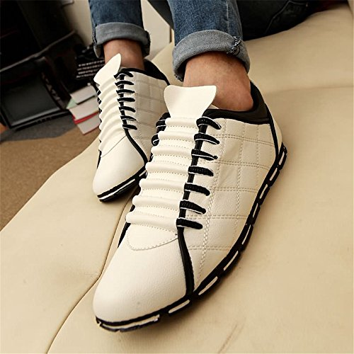 Leisure Lace Flat Sneaker Sports para Superlight Blanco UP atléticos Hombre Zapatos Heel w8HBBY