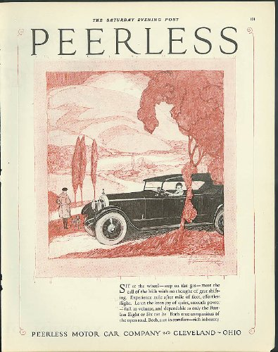 - Sit at the wheel, step on the gas Peerless Touring Car ad 1924