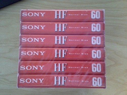 Sony Blank Audio Cassette Tape HF60 HF-60 (6-Pack)