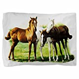 Royal Lion Twin Full Queen Pillow Sham Trio of Horses