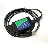 ELM327 USB avec puce FTDI avec 25K80 OBD2 CAN BUS Scanner OBDII outil de diagnostic