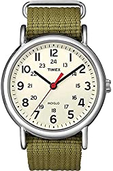 Timex Men's Weekender Analog Black Canvas Strap Watch