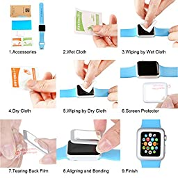 38mm Apple Watch Screen Protector,DiDaDi [2 Pack] [Rose Gold] Full Coverage Tempared Glass 9H Hardness [Anti Scratch] [Ultra HD Clear] [Anti Bubble] Cover Protection for iWatch Series 2 Series 1