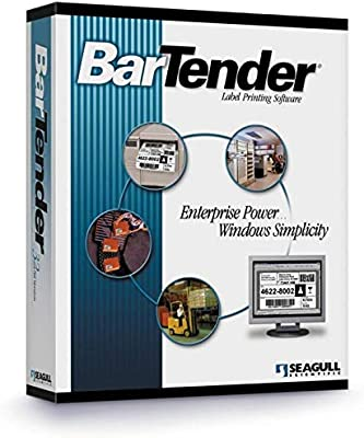 Amazon Com Seagull Scientific Bt A5 Boxed Or Emailed Bartender Label Rfid Barcode Software Version 10 1 Automation 5 Printer Edition Unlimited Users Per Site Industrial Scientific