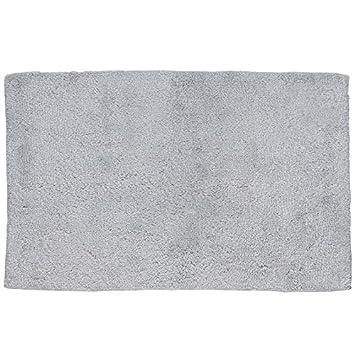 kela-Alfombra de bañ o Antideslizante, algodó n, Color Gris Claro, Gris Claro, 50 x 80 x 2 cm algodón 22466