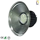 (5 Pack) Commercial Industrial Lighting 100W (400W HID / HPS equivalent) Indoor Area Lighting LED High Bay SMD3030 Light Mining Lamp 60/110 Degree Cover 4000-4500K IP54 Indoor Bulb (natural white)