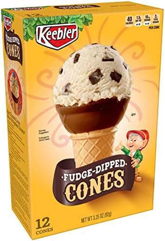 Ice Cream Cones & Toppings: Keebler Fudge Dipped Cones