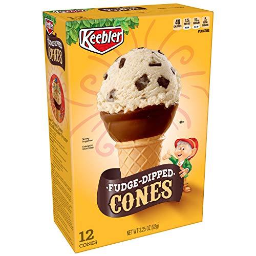 Keebler Cones, Fudge Dipped Ice Cream Cups, 3.25 oz (12 Count)
