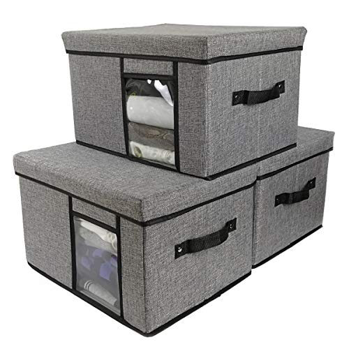 Used, Tuokor Fabric Storage Bins with Lid, 2 Handles and for sale  Delivered anywhere in USA