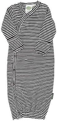 PARADE Kimono Gowns - Essentials Stripes Black 0-3 Months