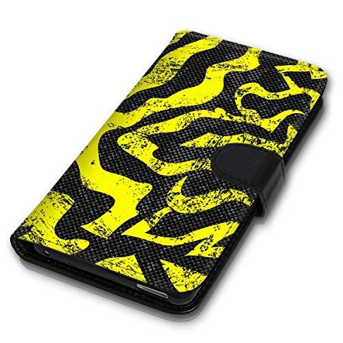 Wallet Book Style Flip Handy Tasche Case Schutz Hülle Schale Motiv Etui für Apple iPhone 4 / 4S - Design Flip MVD180