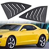 Danti for 2010-2015 Camaro LS LT RS SS GTS Quarter Side Window Scoop Louvers ABS Window Cover Vent Lambo Style (2pcs)